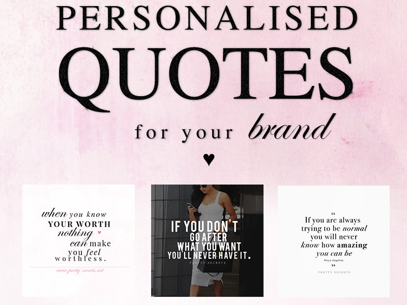 Design Personalised Quotes For Your Brand
